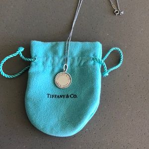 """Tiffany Sterling Silver Charm with 18"""" chain"""